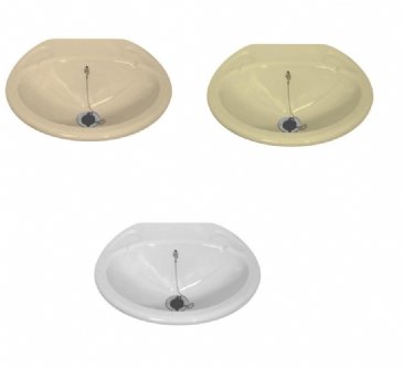 SMALL INSET K260 BASIN - IVORY, Soft Cream or White